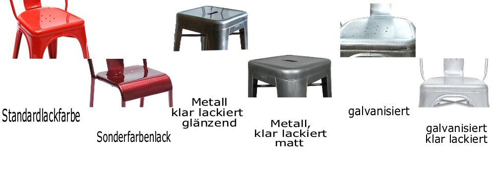 metallm bel farbpalette tolix st hle metallst hle. Black Bedroom Furniture Sets. Home Design Ideas