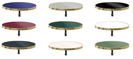 Tischplatte Polyrey Mit Messingkante Outdoor Onduliert Ohne Bistro